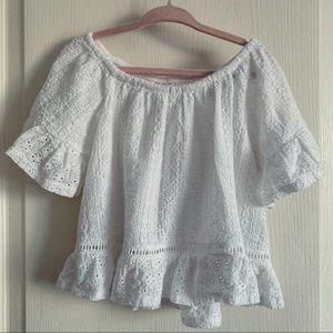 Girl's Zara White Romantic Lace Shirt